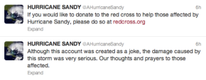 Hurricane Sandy Tweets